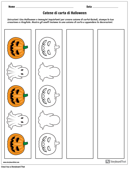 Catene di Carta di Halloween