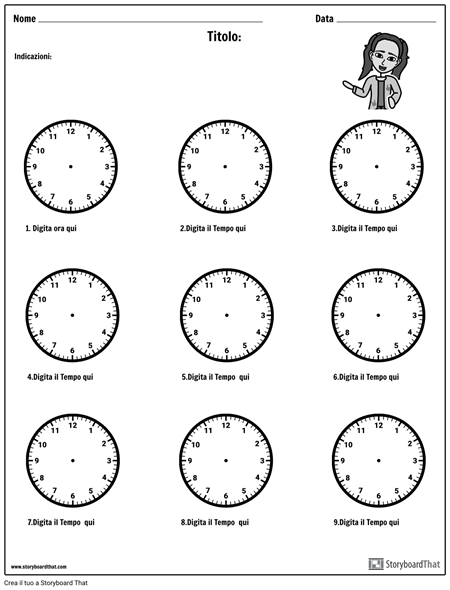Disegna le Mani Sull'orologio