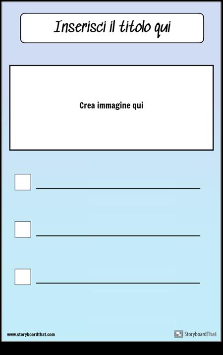 Elenco di controllo con immagine
