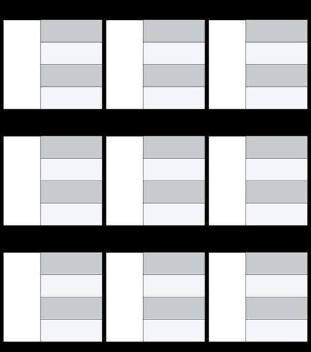 Mappa Caratteri Modello In Bianco