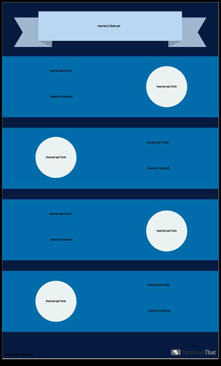 Modello di Infografica blu