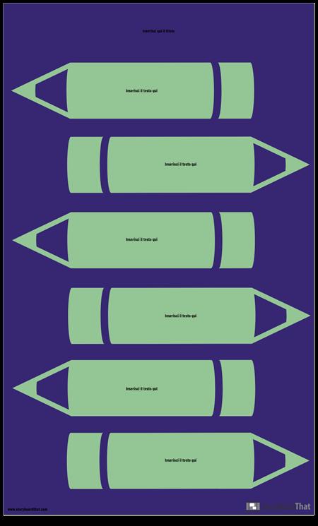 Modello di Infografica Matite
