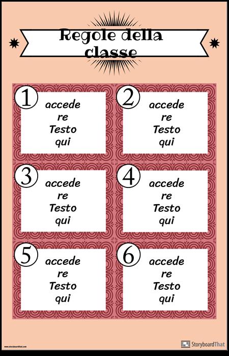 Poster Delle Regole Della Classe 2