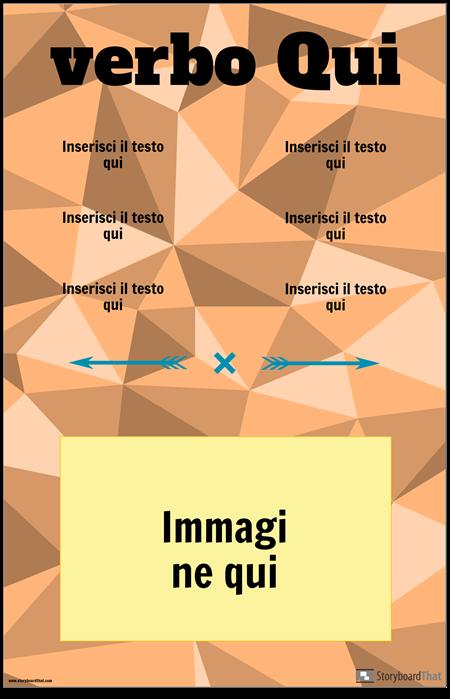 Poster di Coniugazione Verbo Verticale