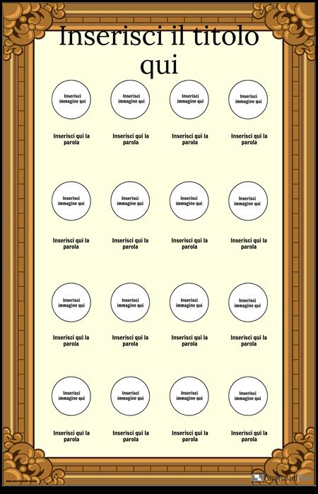 Poster di Vocabolario Visivo Incorniciato