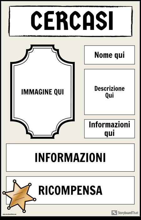 Poster Ricercato 2