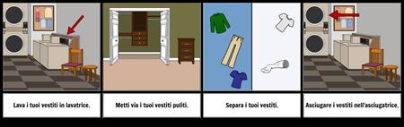 Primo ... Ultimo Esempio: Lavare i Vestiti