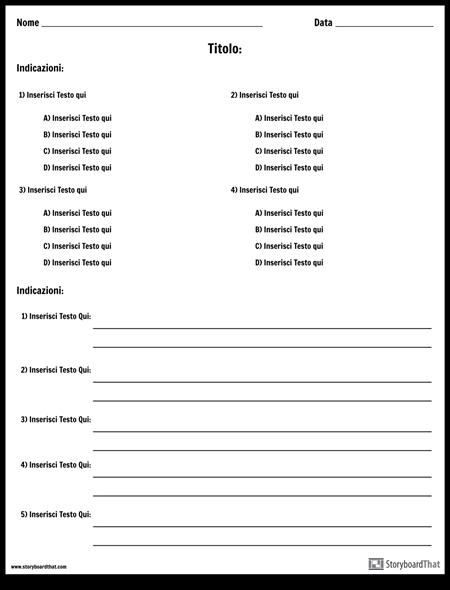 Scelta Multipla e Risposte / Definizioni Brevi