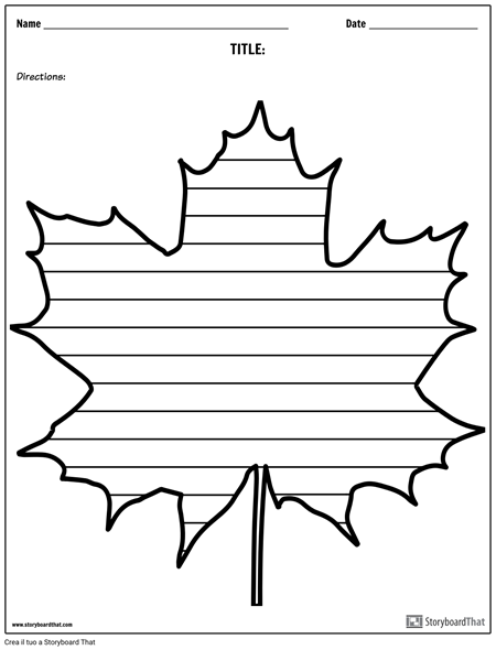 Scrittura Creativa - Maple Leaf