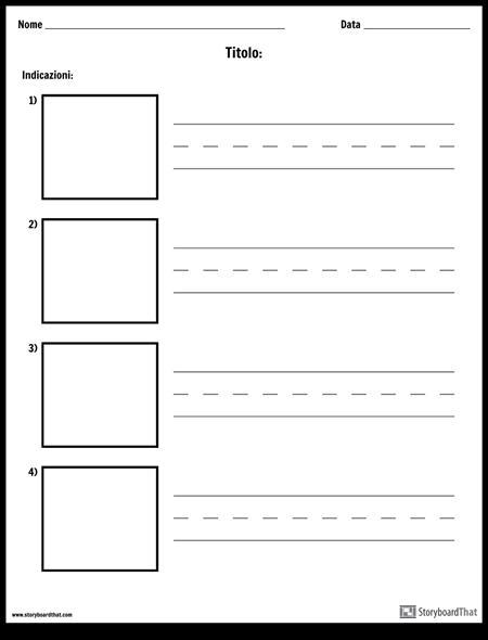 Scrittura Pratica - Parole più Lunghe e Scatole di Immagini