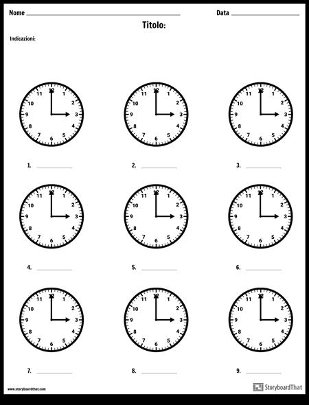 Scrivere L'ora
