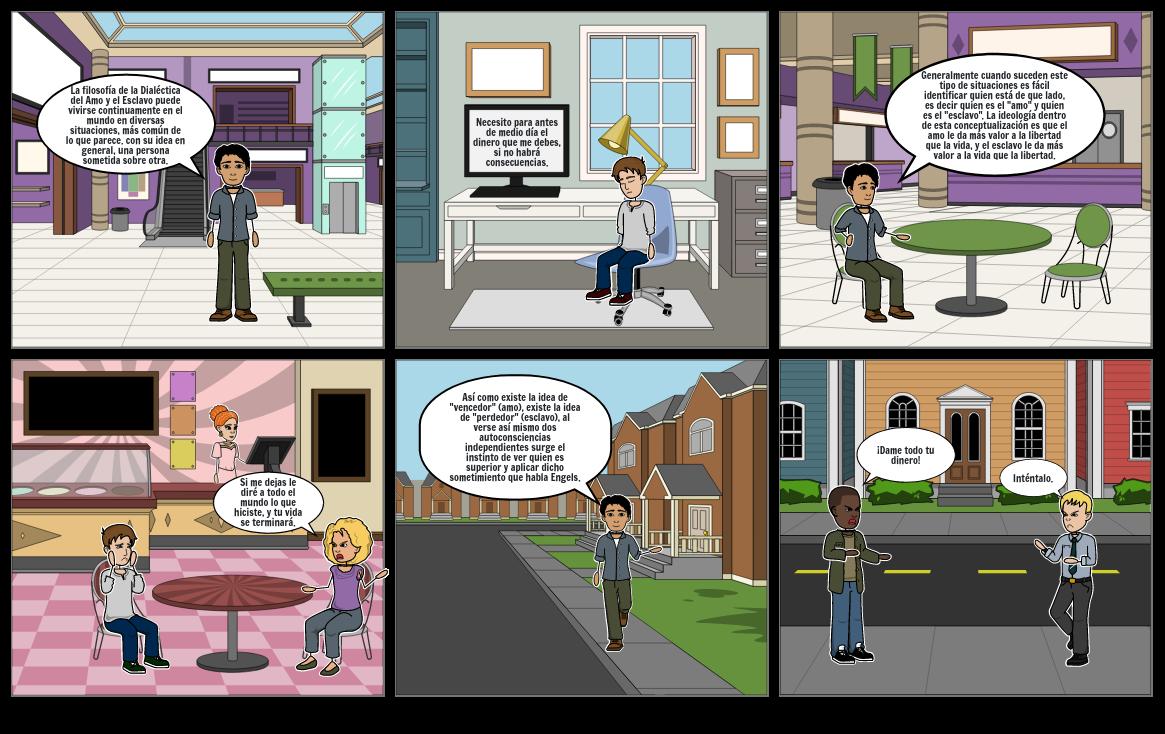 Comic Dialéctica del Amo y el Esclavo