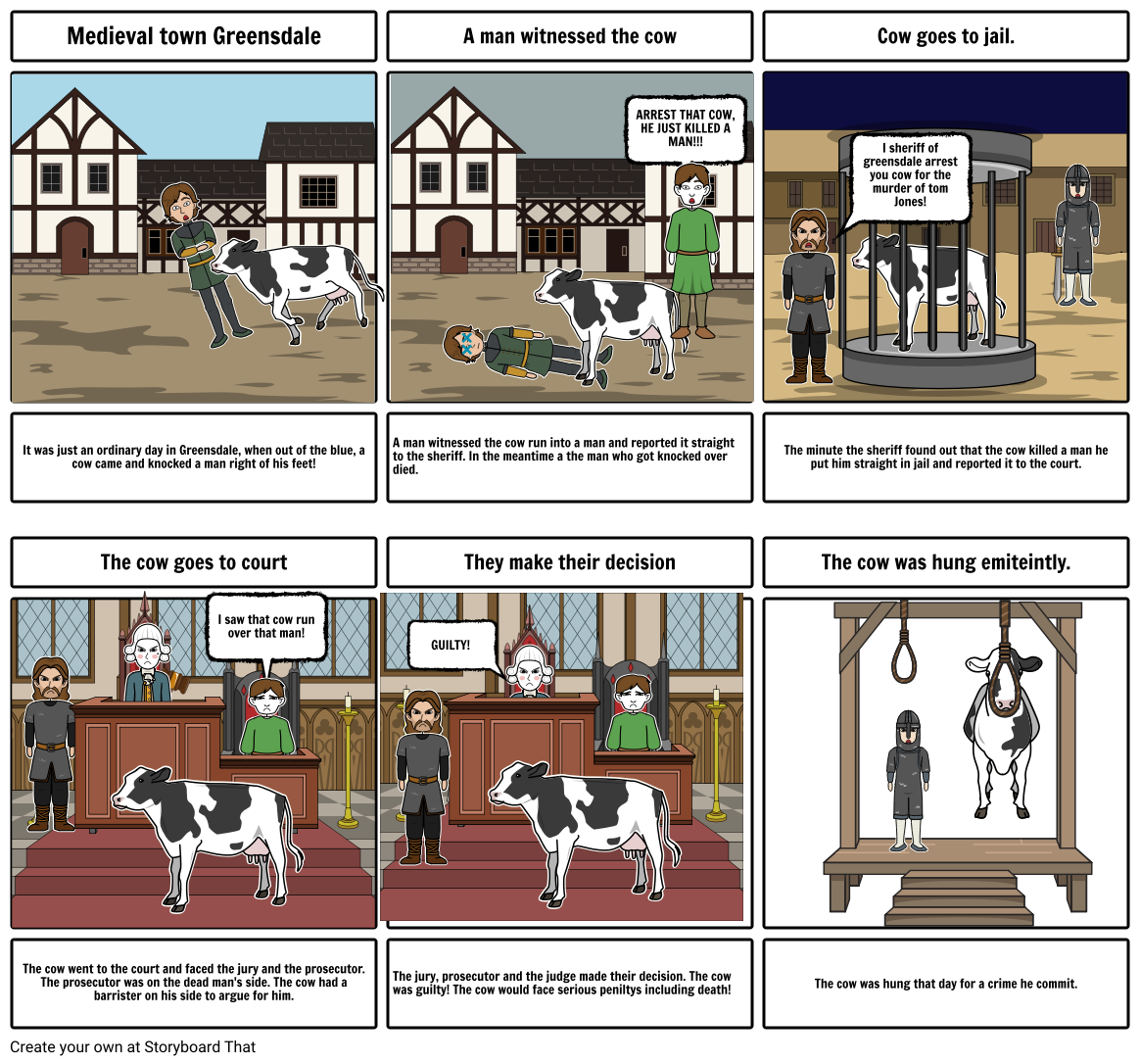 Cow trial