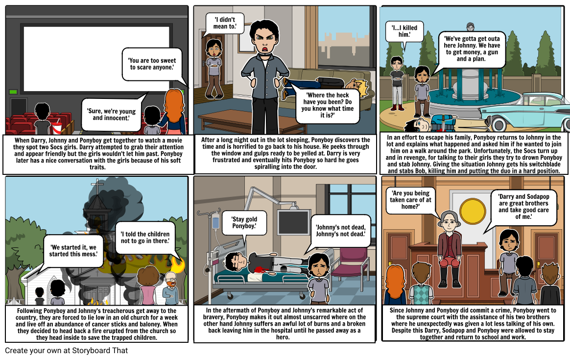 The Outsiders Comic Strip- Jack.G