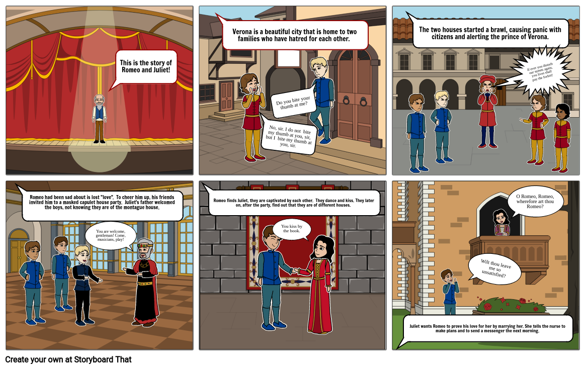 Romeo and Juliet Comic Project
