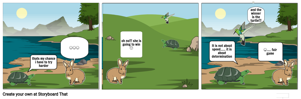 The rabbit and the winning turtle