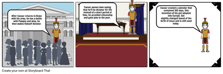 Jaqueline's storyboard about Julius Caesar