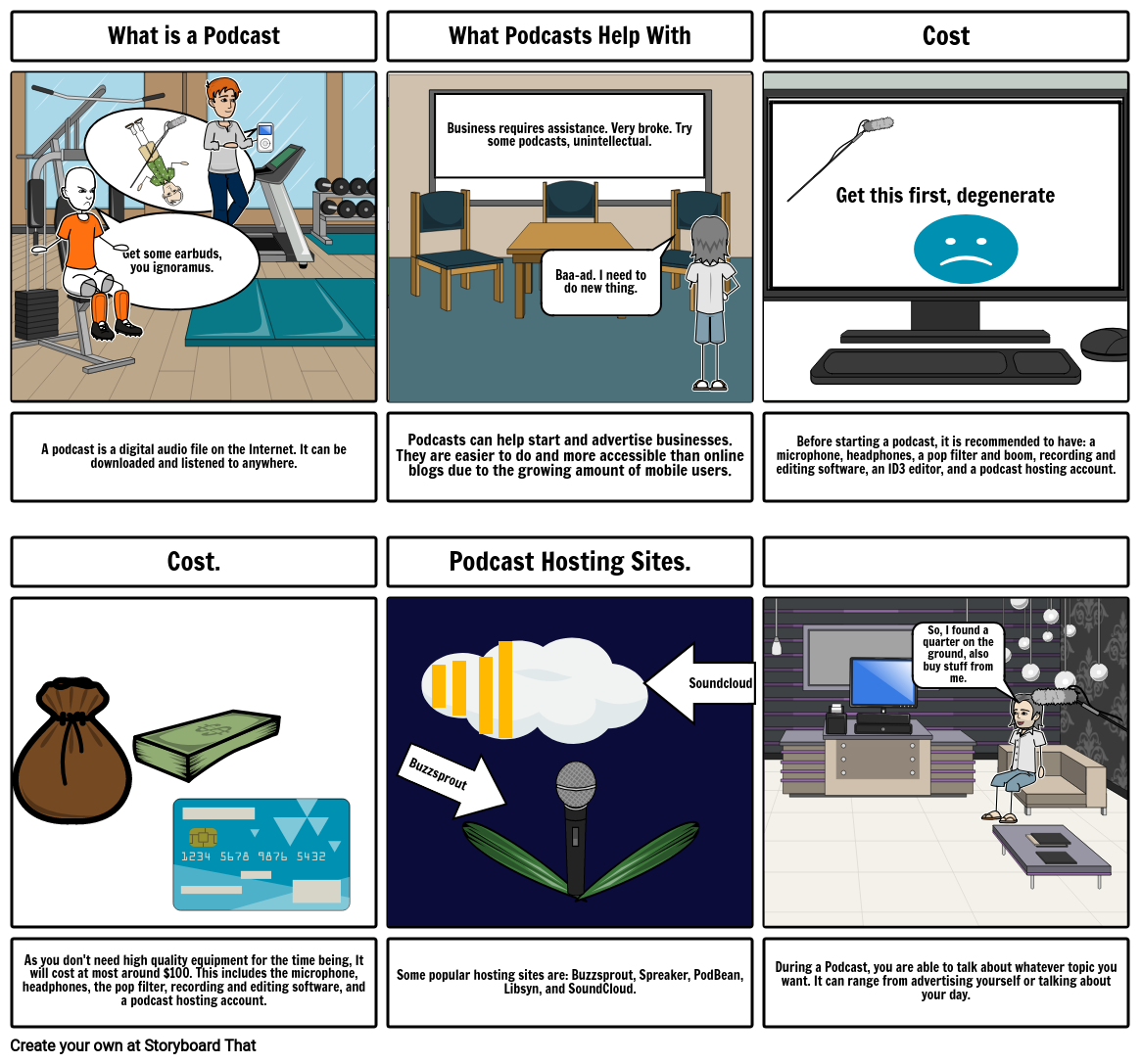 Podcasting Storyboard by jason_is_a_whale