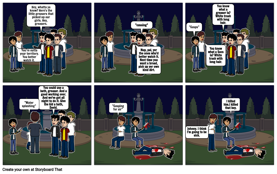 The outsiders story board
