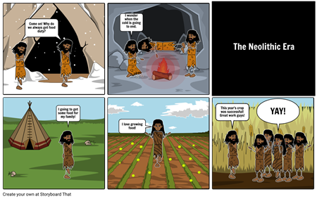 Early Man comic Strip