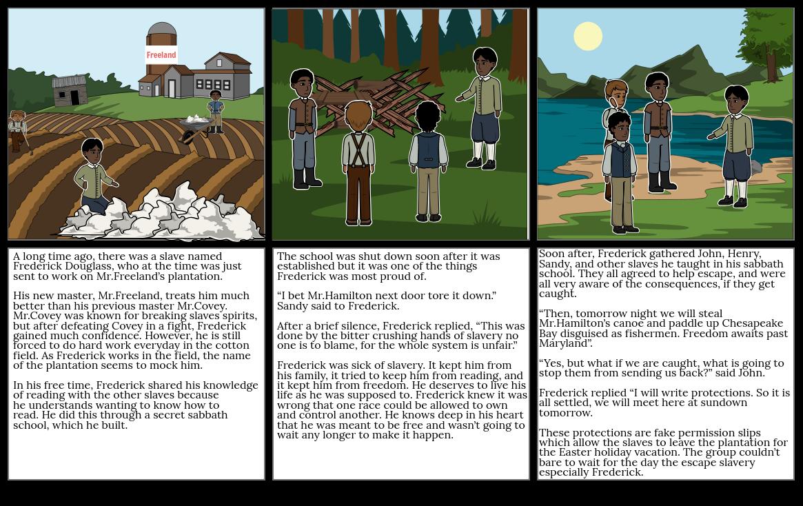 Frederick Douglass' Escape