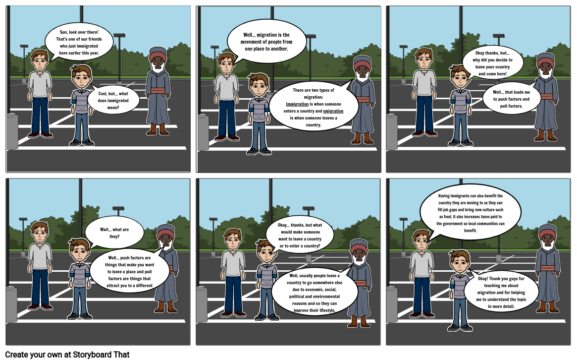 Geography Comic Strip- Migration