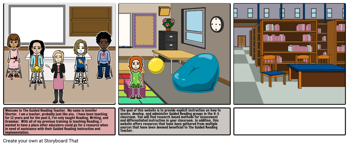 Guided Reading Storyboard by jennifer53946