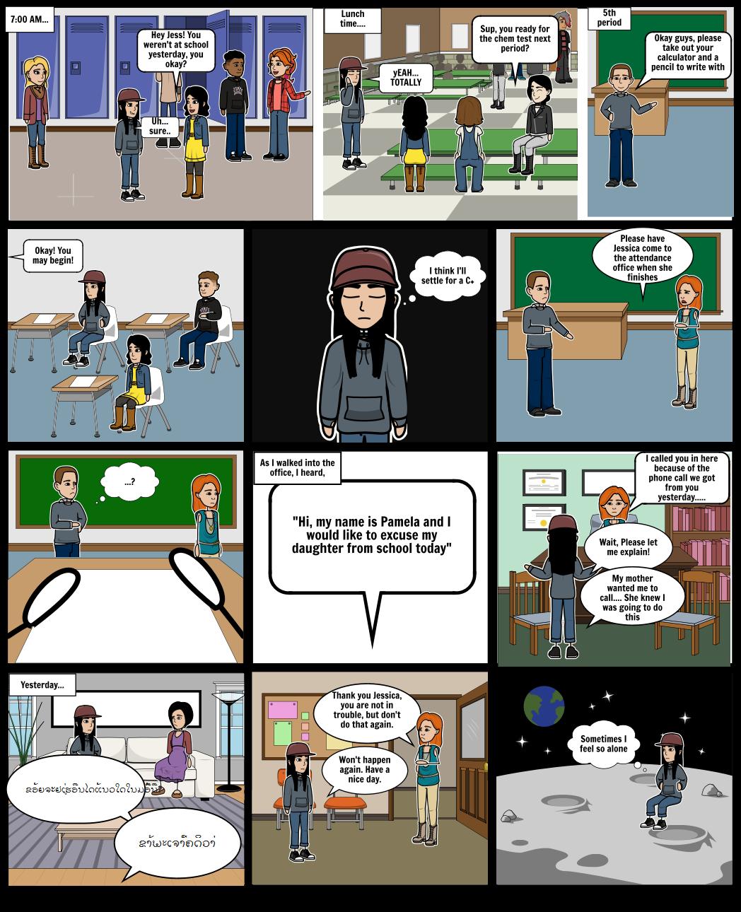 Literacy Narrative Comic