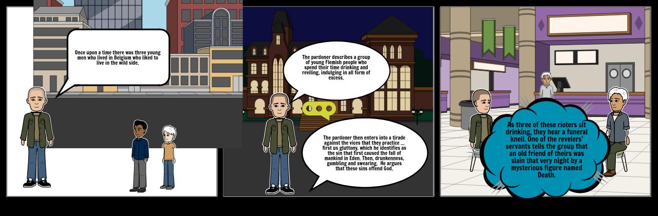 Pardoner's tale (story map)