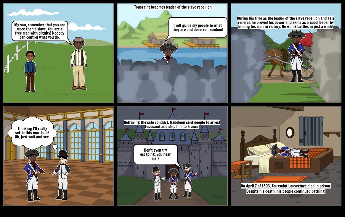 Toussaint L'Ouverture Comic Strip