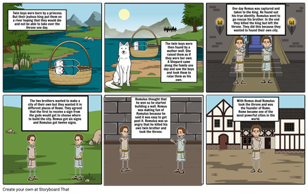 The myth of Romulus and Remus