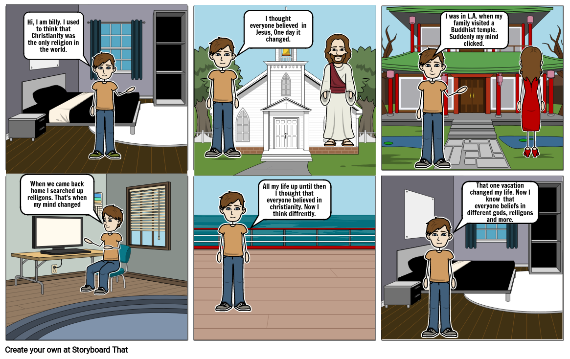 Billy learns about relligion