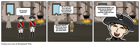 Quartering act story board