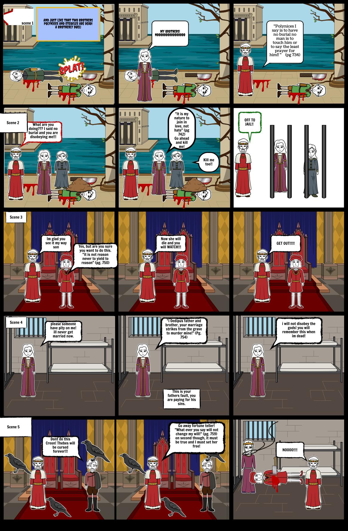 Antigone Comic by Jonah Lichlyter