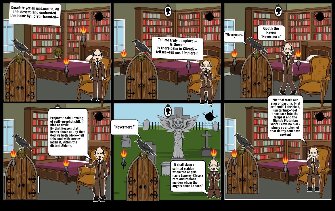 The Raven Comic Strip