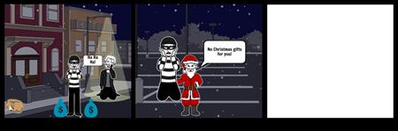 Santa Spanks Robber
