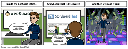 AppSumo Advertisment Proposal Storyboard