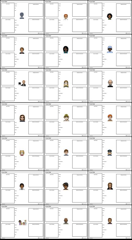 Persona Worksheets