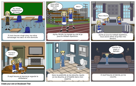 French Storyboard 2