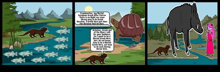 Odyssey Of A European Greek Otter Storyboard #1