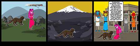 Odyssey Of A European Greek Otter Storyboard #3