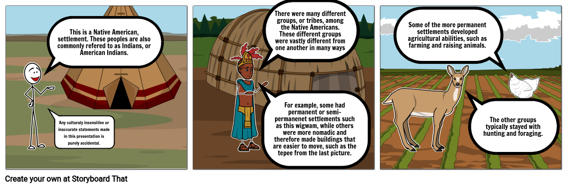 Native American Storyboard