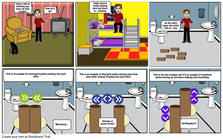 Tectonic plates project storyboard