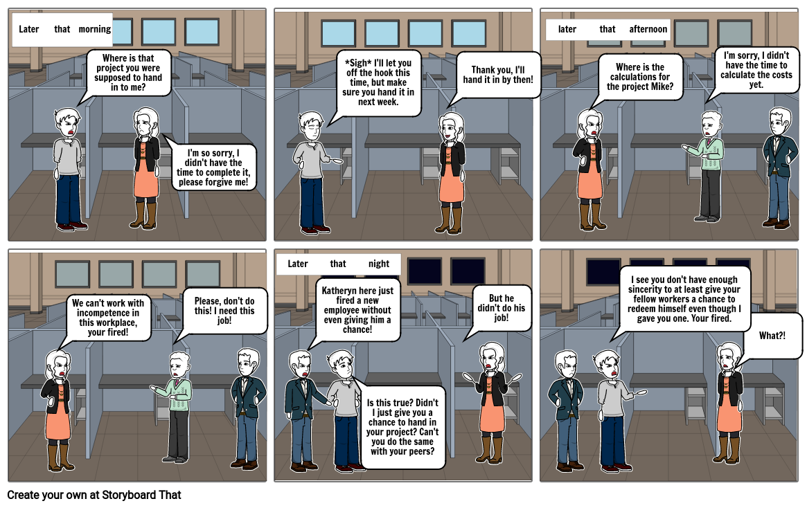 The Unforgiving Office Worker - Modern Parable By: Justin Keov