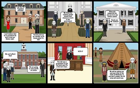 Andrew Jackson storyboard