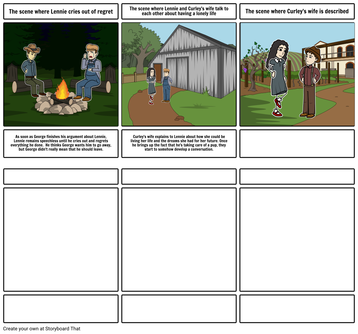 Mice and Men storyboard project