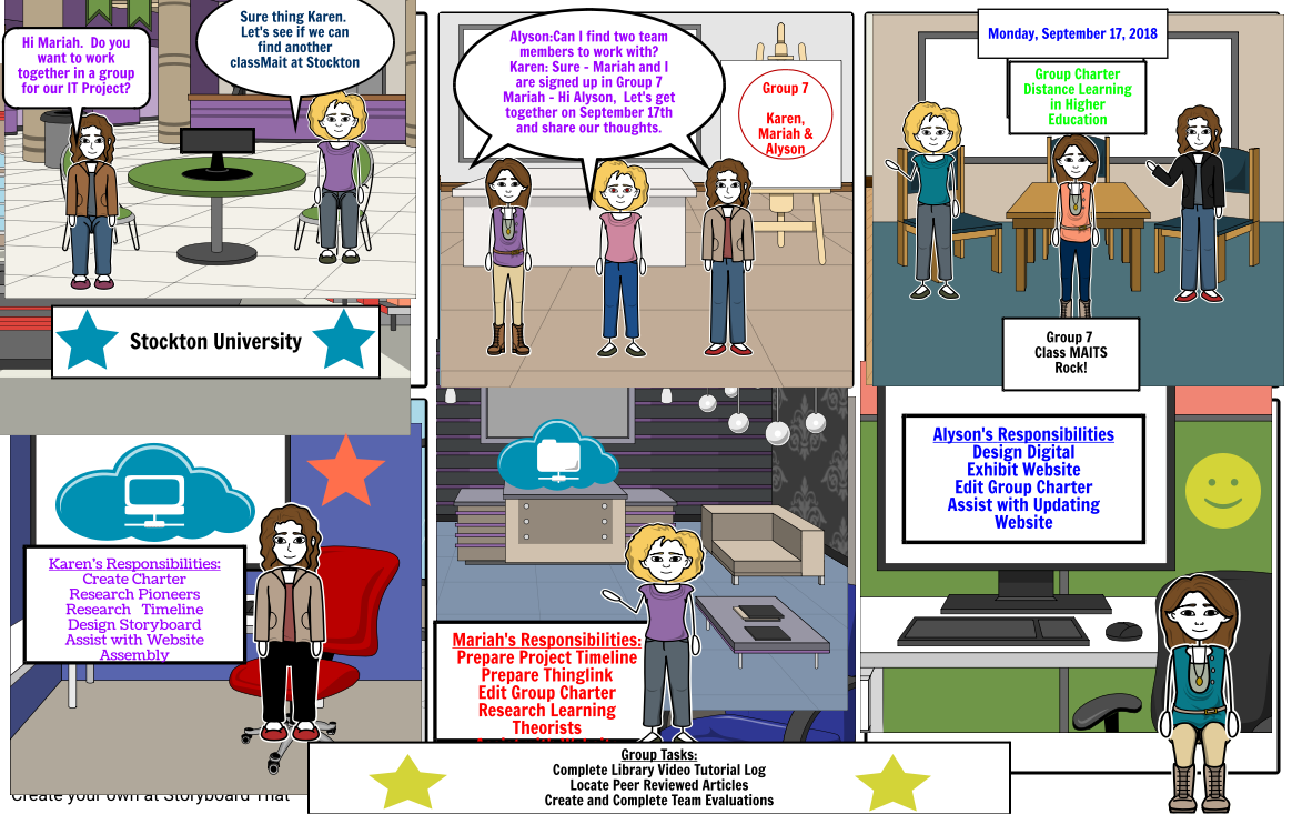 Distance Learning Storyboard