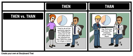 Then Vs Than - Homophone Examples