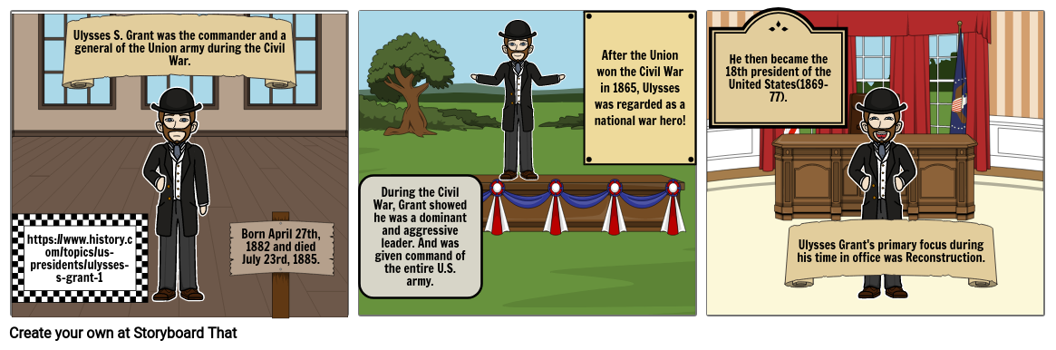 Storyboard Project 4: Ulysses S. Grant