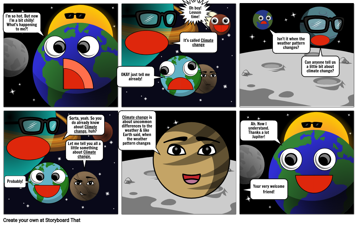 What is climate change? (comic strip)